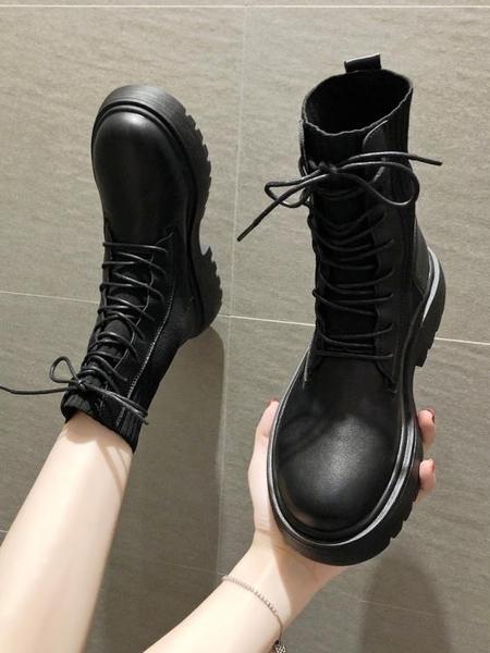 馬丁靴 馬丁靴女秋冬靴子瘦瘦靴英倫風帥氣彈力襪靴短靴 優惠兩天