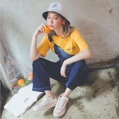 MUMU【P93777】男友風雙口袋連身牛仔吊帶褲