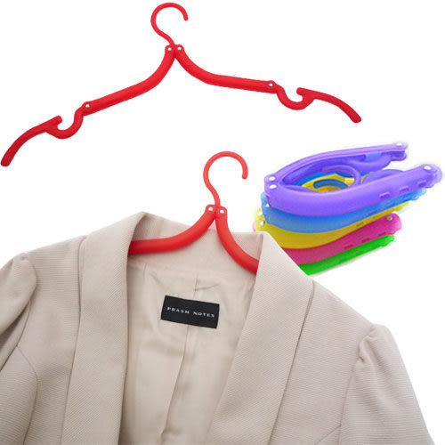 Kiret 衣架 曬衣架 伸縮衣架 可收納折疊衣架10入