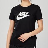 Nike AS W NSW TEE ESSNTL ICON FUTUR 女子 黑色 基本款 短袖 BV6170-010