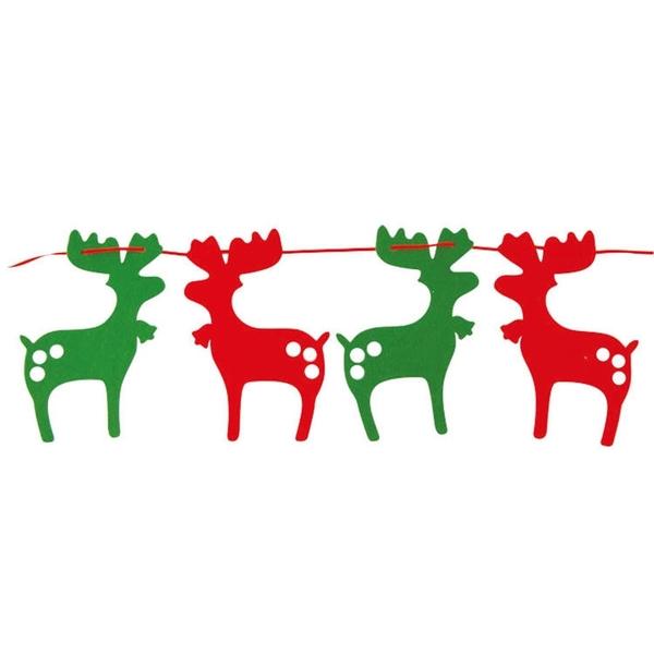 DIY 小鹿串旗 聖誕節佈置 聖誕節吊飾 (購潮8)