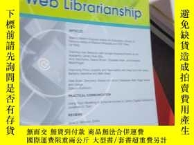 二手書博民逛書店Journal罕見of Wed Libraianship Vol