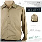 【大盤大】ELEMENT長袖襯衫 LL號 格紋襯衫 格子 休閒 蘇格蘭 口袋 原裝百貨 薄襯衫 爸爸 父親