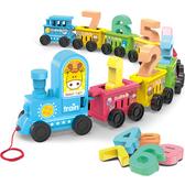 火車玩具組 數字火車(11節) 疊疊樂拖拉小火車 兒童積木玩具 8021 好娃娃