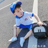 男童夏裝新款套裝連帽韓版運動夏季童裝兒童短袖純棉兩件套潮   伊鞋本鋪