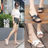 拖鞋韓版室外涼拖平跟時尚外穿女士平底一字拖潮休閑女鞋 探索先鋒