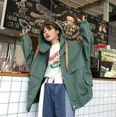 工裝外套女韓版寬鬆連帽短款bf學生風衣潮   琉璃美衣