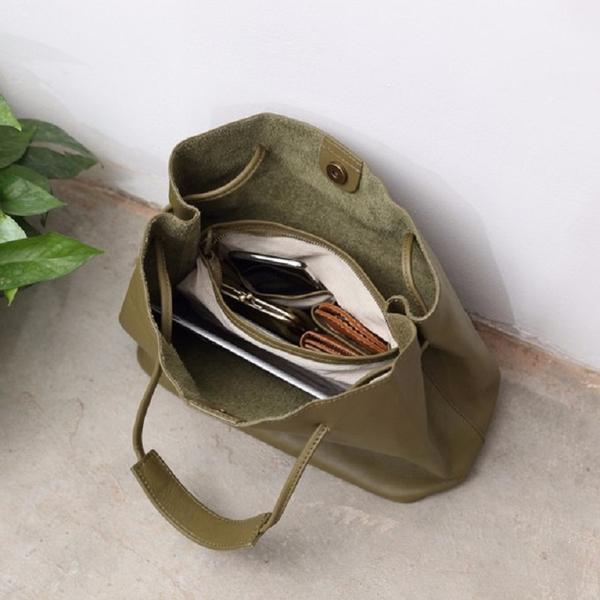 【Solomon 原創設計皮件】真皮磁扣肩背包 側背包 手提 牛皮環保購物包