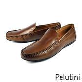 【Pelutini】簡約時尚樂福鞋 咖啡(7806-DBR)