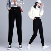 縮口褲 大碼女裝冬裝新款潮2020年寬鬆胖mm胯大腿粗運動縮口褲子顯瘦春裝-米蘭街頭