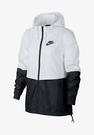 NIKE系列-NSW RPL ESSNTL WVN JKT 女款白黑色防風外套-NO.AJ2983102