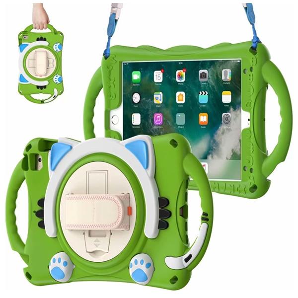 蘋果 mini5 mini4 mini3 2 1 防摔貓咪 平板殼 矽膠 手提 支架 平板保護套