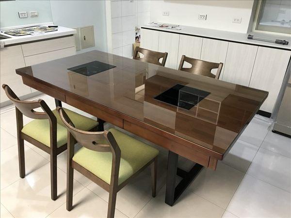 【石川家居】客製化木工區 ET-005 春茶木實木客製火鍋桌 可訂製放置電磁爐 在家也可享用 台灣製