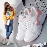 運動鞋女正韓跑步鞋  秋季新品學生平底百搭透氣網鞋白色休閒鞋