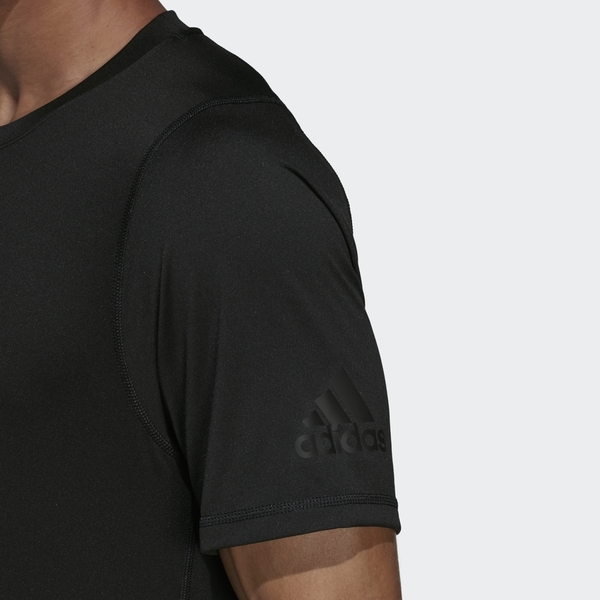 【現貨】ADIDAS FREELIFT 男裝 短袖 慢跑 訓練 吸濕排汗 前短後長 大LOGO 黑【運動世界】DU0902