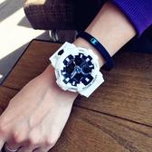 手錶 潮牌時尚潮流手錶男女學生韓版簡約大氣電子錶運動防水雙12