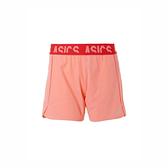 Asics [2012A592-702] 女 5.5吋 平織 短褲 彈性 反光 舒適 運動 訓練 慢跑 亞瑟士 粉橘