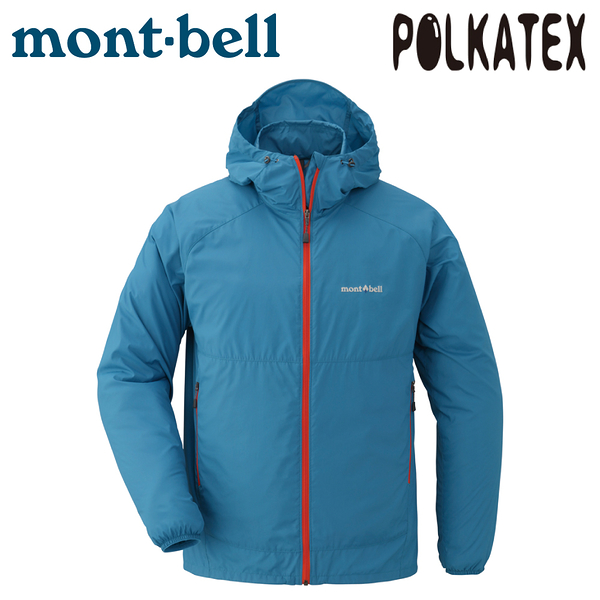 【Mont-Bell 日本 男 Wind Blast Parka 連帽風衣《青藍》】1103242/防潑水外套/運動夾克