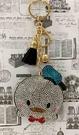 【震撼精品百貨】Donald_唐老鴨~迪士尼唐老鴨鑲鑽造型鑰匙圈-Q版唐老鴨#58462