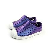 native 懶人鞋 洞洞鞋 防水 雨天 童鞋 紫色 小童 童鞋 13100104-8469 no686