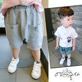 小童男童棉質麻短褲夏季兒童裝休閒褲子薄款外穿潮褲男寶寶哈倫褲 萬聖節