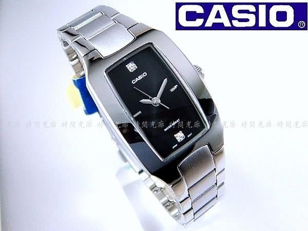 【時間光廊】CASIO 卡西歐 酒桶型 時尚指針女錶-黑 全新原廠公司貨 LTP-1165A-1C2DF
