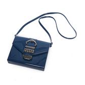 Petite Jolie  復古金屬扣飾果凍信封包-蔚藍色
