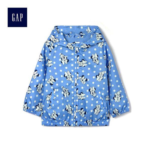 Gap x Disney女嬰幼童 迪士尼系列米妮長袖防風外套 436076-米妮老鼠圖案