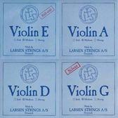 小叮噹的店- 小提琴弦 (整套) 丹麥 Larsen Original Medium 淺藍 5525