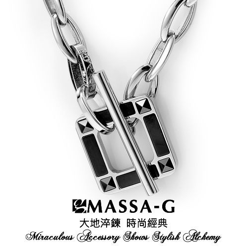 Loop  迴圈-黑 鍺鈦項鍊  MASSA-G Deco系列
