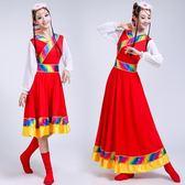 藏族舞蹈服裝衣服女民族風新款藏舞演出服裙子西藏廣場舞套裝成人