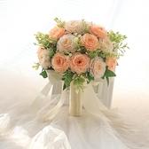 手捧花新娘結婚韓式婚禮花球婚紗照捧花假花伴娘拍照道具花束仿真 幸福第一站