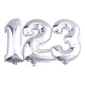 16吋銀色數字鋁箔氣球(不含氣)-0到9