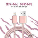 micro玫瑰金-鋁合金編織充電傳輸線 線長1.5米