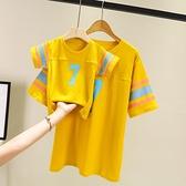 親子裝親子裝一家三口四口抖音母子母女裝2021新款網紅款夏裝洋氣t恤潮 貝芙莉