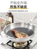 (快出)不銹鋼炒鍋層不黏鍋無鍋家用鍋炒菜鍋電磁爐煤氣灶專用鍋具