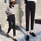 西裝褲 西裝褲女夏季薄款新款韓版小腳哈倫九分褲高腰顯瘦直筒煙管褲西褲