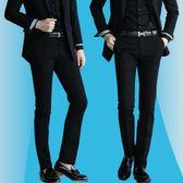年終9折大促 秋冬季男士西褲修身黑色上班直筒西裝褲商務正裝休閒職業西服褲子 夢想巴士