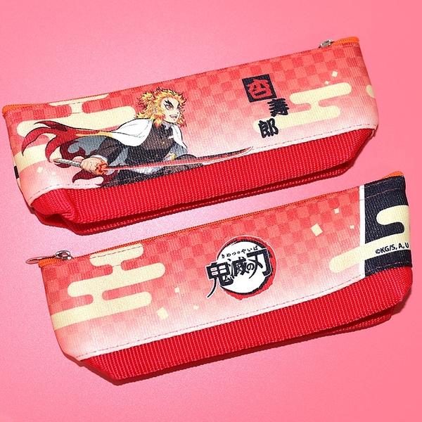 日本製 鬼滅之刃 無限列車 煉獄杏壽郎 筆袋 筆盒 文具袋 日本販售正版 POLY製