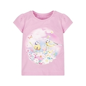 mothercare 花園寫真粉紅短袖T-活潑天地(M0H9766)3~6歲