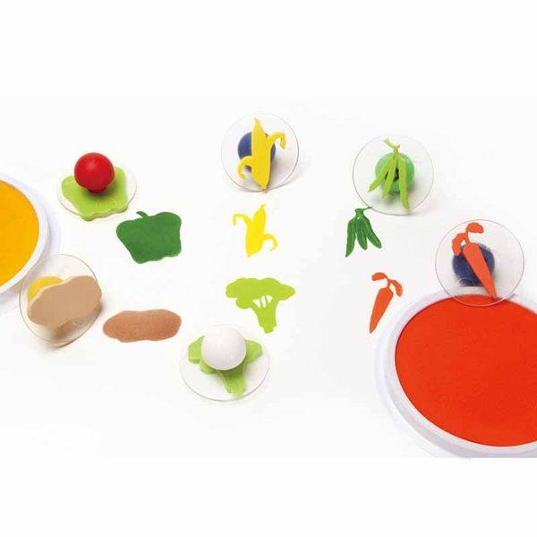 鮮彩蔬菜大印章 兒童幼兒教具教學道具彩繪著色畫圖用具親子同樂綜合活動藝術與人文