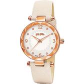 Folli Follie CLASSY ELEMENT 摩登時尚晶鑽石英女錶 WF14R023SSS-WH