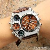 Oulm歐鐳幾何圓盤創意手錶概念男錶歐美大盤嘻哈手錶陸軍手錶1349-Ifashion