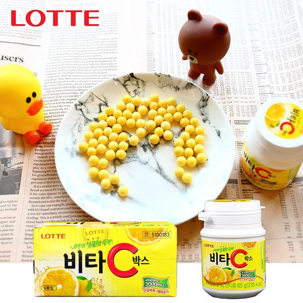 韓國 樂天 LOTTE 維他命C VC 檸檬糖(65g)【庫奇小舖】