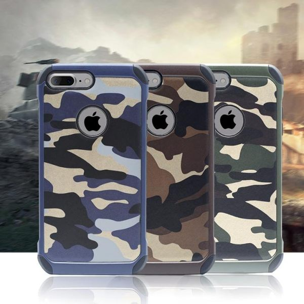 迷彩全包軟邊防摔  蘋果I7/I7Plus手機套 手機殼 手機保護套