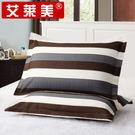 枕頭套-枕套一對裝48x74cm全棉枕套斜紋枕頭套單人枕芯套 大降價!免運8折起!
