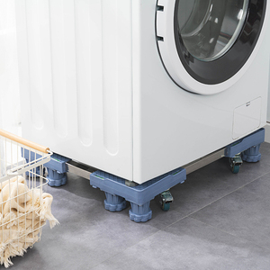 樂嫚妮 (現+預)可伸縮調節洗衣機台座托架-八腳柱附輪款-耐重300kg