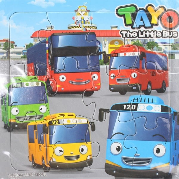 TAYO小巴士拼圖 士耘PUZ0208 12片幼兒拼圖/一個入{特50}可愛拼圖 MIT製~正版授權~