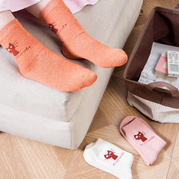 [超豐國際]秋冬季長款襪子男士高幫中筒襪 女士加厚時尚保暖長襪棉襪