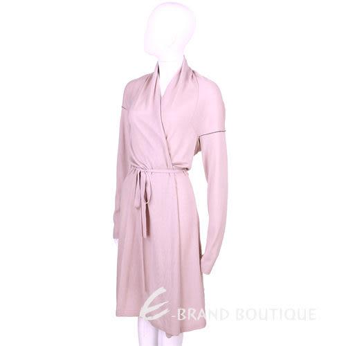 SCERVINO 粉紫色綁帶長版針織外套 0940421-C5
